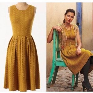 Anthropologie Far Away From Close Cableknit Dress